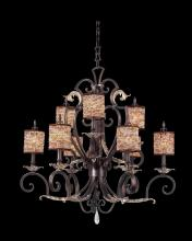 Kalco 2573AF/S300 - Chesapeake 9 Light Chandelier With Beaded Shade