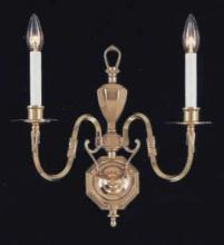 "Crystorama 402-PB - Brass Wall Sconce W15"" H16"" Ext 8"" 2-60W"