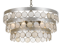 Crystorama 6006-SA - Crystorama Coco 6 Light Antique Silver Chandelier
