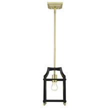Golden 8401-M1L SB-BLK - Mini Pendant