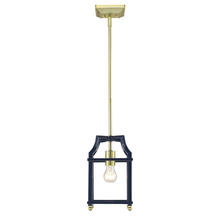 Golden 8401-M1L SB-NVY - Mini Pendant