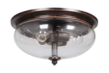 Jeremiah 38783-AGTB - Stafford 3 Light Flushmount in Aged Bronze/Textured Black