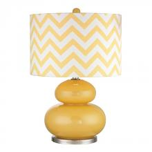 Dimond D2501 - Tavistock Table Lamp In Sunshine Yellow And Polished Nickel