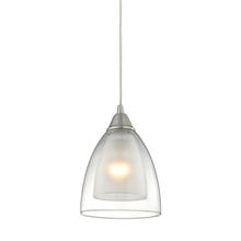 ELK Lighting 10464/1 - Layers 1 Light Pendant In Satin Nickel And Clear