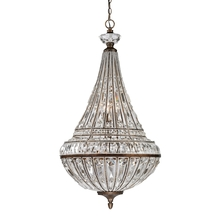 ELK Lighting 46048/6+3 - Empire 9 Light Pendant In Mocha And Clear Crysta
