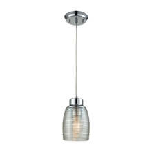 ELK Lighting 46206/1 - Muncie 1 Light Pendant In Polished Chrome With C