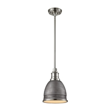 ELK Lighting 66880/1 - Carolton 1 Light Pendant In Weathered Zinc And P