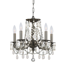 Crystorama 5545-PW-CL-MWP - Crystorama Gramercy 5 Light Clear Crystal Pewter Mini Chandelier II