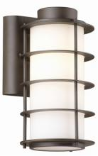 Forecast F849768 - One-light Outdoor Wall in Deep Bronze finish with etched white opal glass