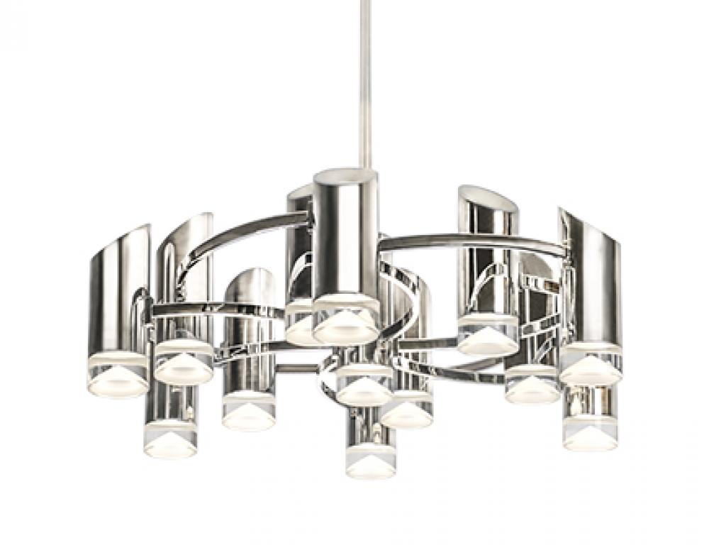 Berlin - Chandelier with Electroplated Aluminum and Steel