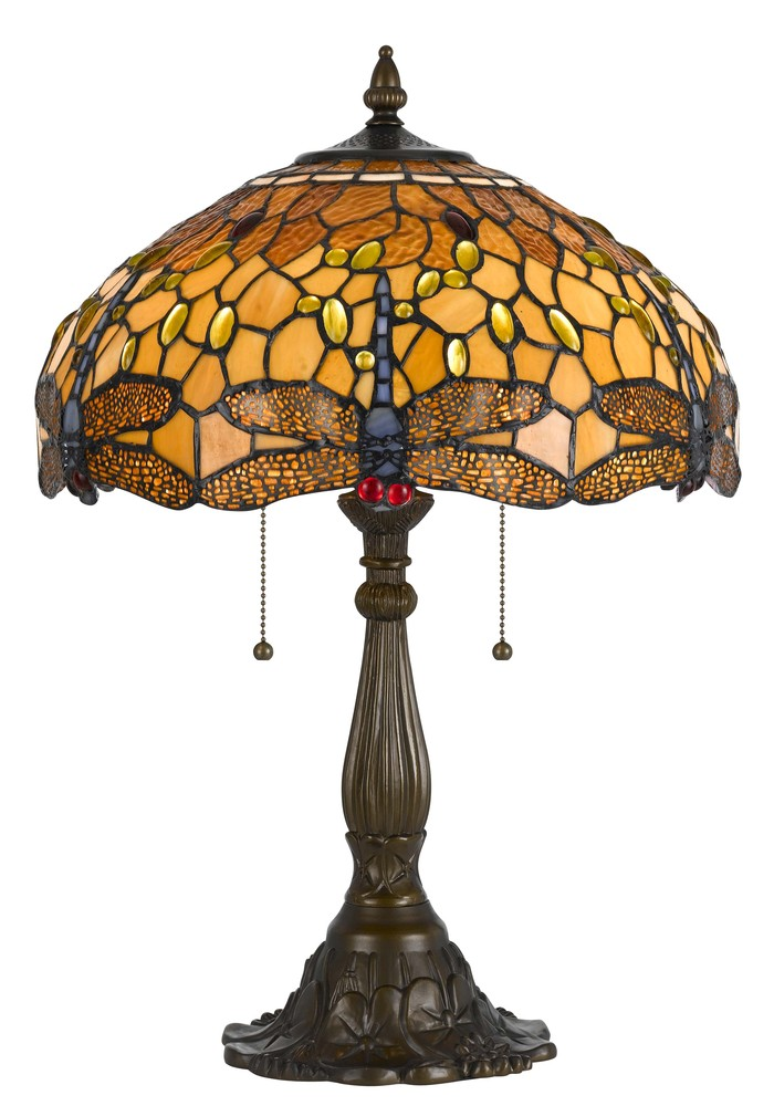 "23"" Height Zinc Cast Table Lamp In Antique Brass"