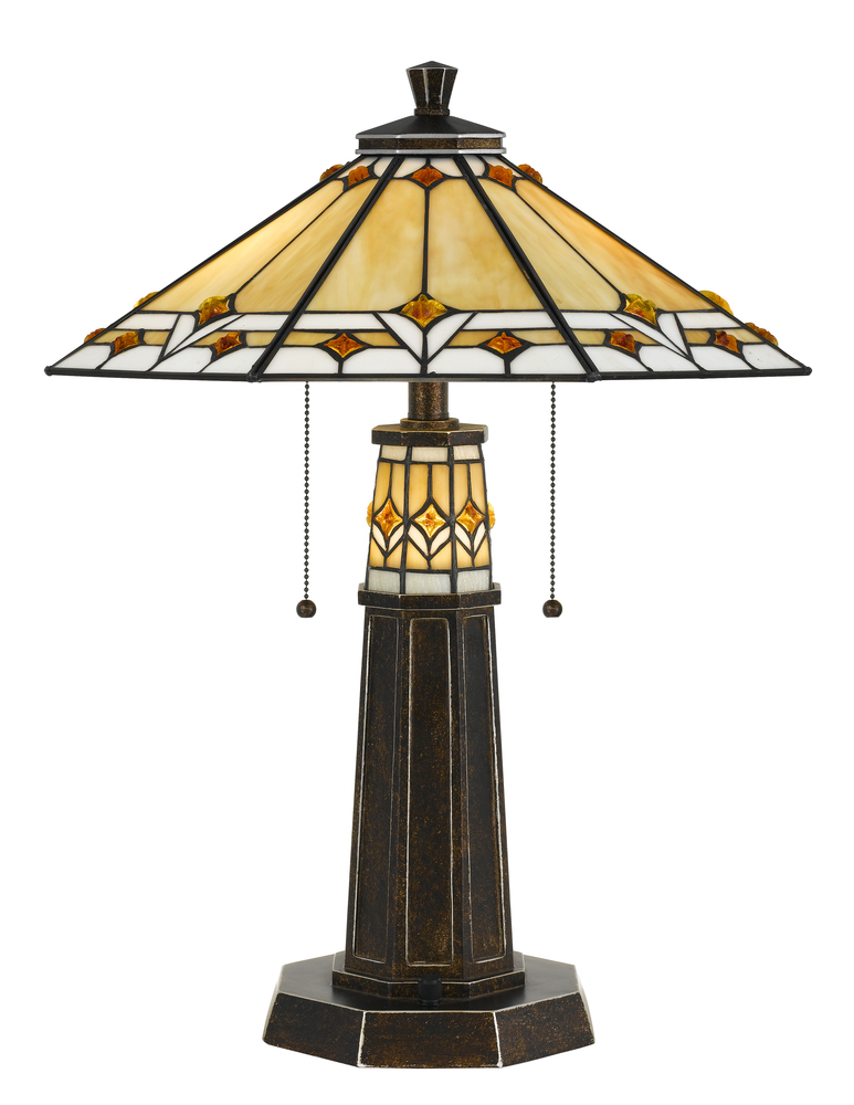 "24.5"" Height Resin Table Lamp In Bronze"