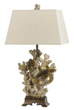 "CAL Lighting BO-2476TB - 29"" Height Resin Table Lamp In Sand Stone"